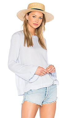 Bell Sleeve Tie Back Top – Lavender Blue