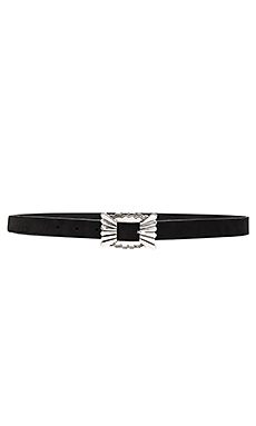 Catalina Mini Nubuck Belt en Noir & Nickel