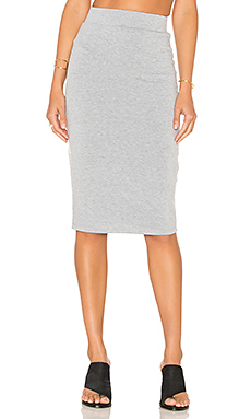 Pencil Skirt in Heather Grey