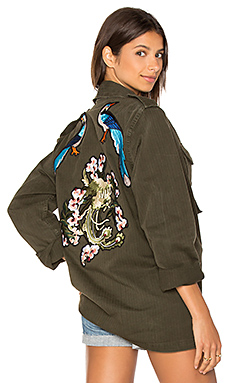 X Good F*ckin' Vibes Blue Bird Army Jacket – 绿色