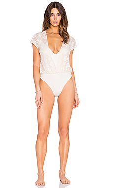 Tribal One Piece Swimsuit in White Sands