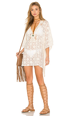 Tribal Caftan en Sable Blanc