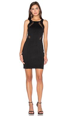 BLACK Double Knit Sleeveless Bodycon Mini Dress – 黑色