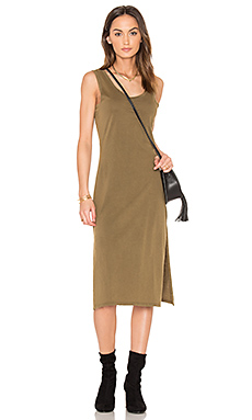 Distressed Jersey Tank Dress en Army