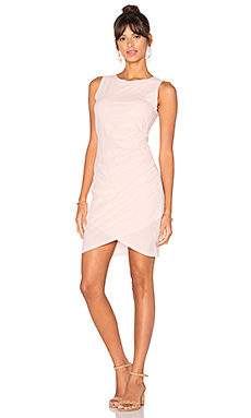 Supreme Jersey Ruched Bodycon Dress in Blushed
