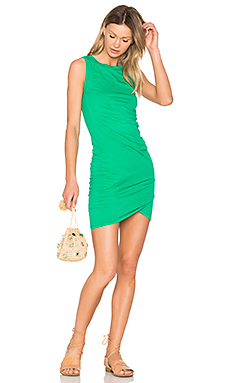 Supreme Jersey Ruched Bodycon Dress en Rainforest
