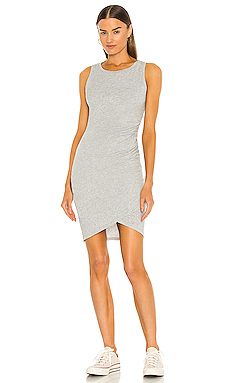 Supreme Jersey Ruched Bodycon Dress in Heather Grey