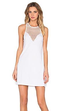 Pima Cotton Sweetheart Mini Dress in White