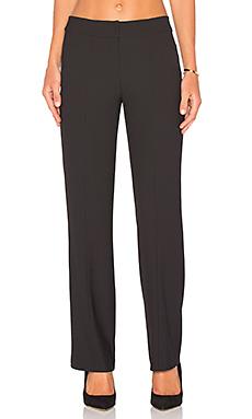 BLACK Woven Crepe Pants in Black