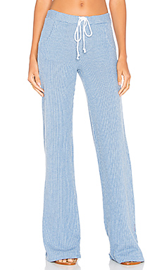 Knit Wide Leg Pant en Bleu