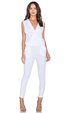 Supreme Jersey V Neck Jumpsuit in White