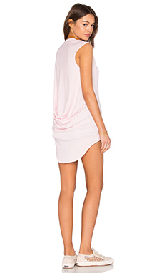 Light Weight Jersey Hi Low Scoop Neck Tank in Lipgloss