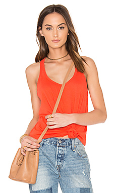 Light Weight Jersey Scoop Neck Tank in Tigerlily