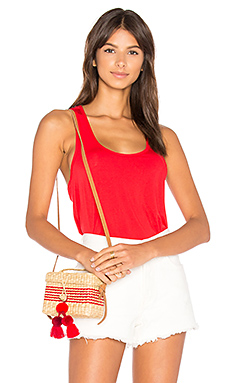 Tencel Jersey Twist Back Tank in Red