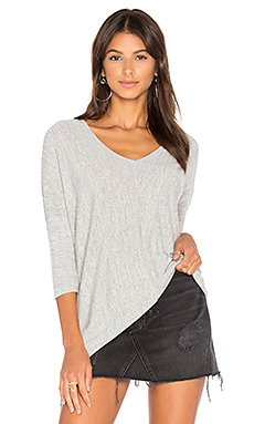 Faded Dolman Sleeve Top en Gris