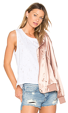 Destructed High Lo Tank en Blanc
