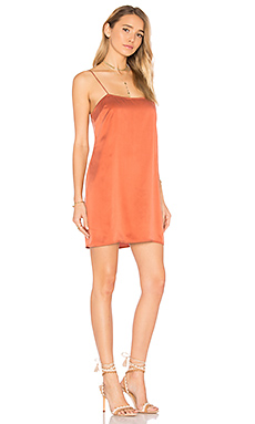 Holden Silk Slip Dress en Terracotta