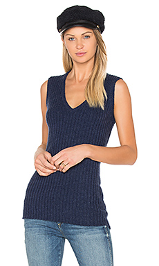 Rib Sleeveless Sweater en Velvet Blueprint Marl