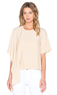 Disposition Silk Top en Fauve
