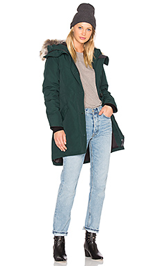 Rossclair Coyote Fur Parka – Alonquin Green