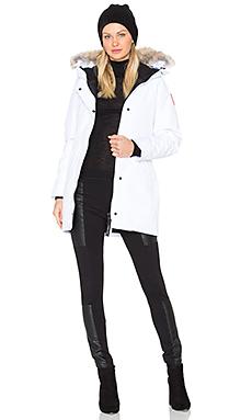 Victoria Coyote Fur Parka in White