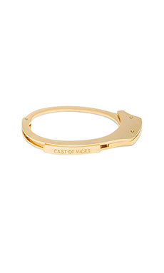 Handcuff 14K Gold Plated Bracelet en Or