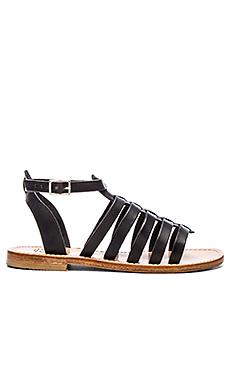 Gladiator Ankle Band & Strap Sandal in Black