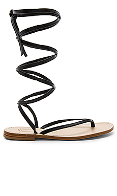 Amalfi Sandal in Black Leather