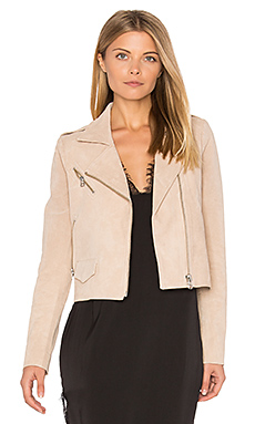 Stella Moto Jacket in Blush