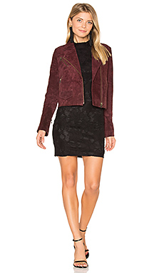 Stella Moto Jacket in Burgundy