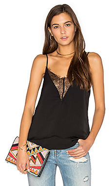 Lace Inset Cami in Black