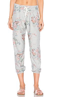 Kelly Slouchy Sweatpant en Heather Grey & Multi