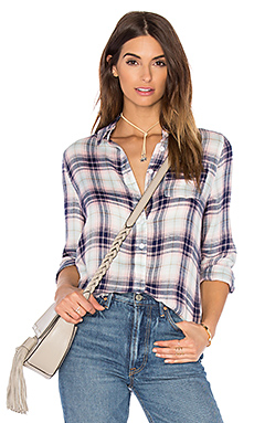 Amber Button Up in Blue & Pink Plaid