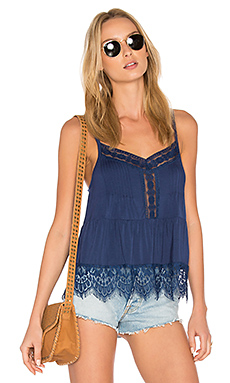 Ivy Lace Sweep Cami – Japanese Indigo