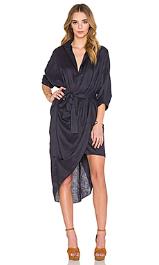 Phoenix Shirt Dress en Midnight