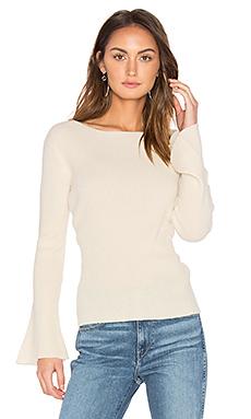 Salzburg Pullover Cashmere Sweater en Blanc Hiver