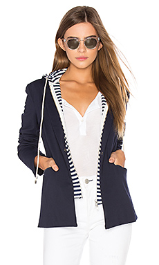 Savannah Hooded Blazer en Marine