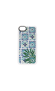 COQUE IPHONE 7 TROPICAL LEAVE MOROCCAN TILES