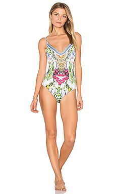 Scoop Back One Piece in Exotic Hypnotic