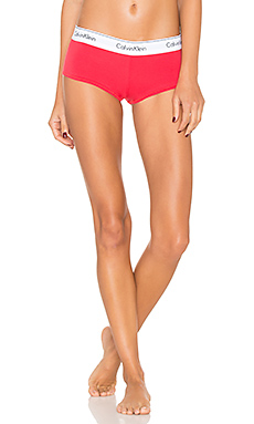 Modern Cotton Boyshort en Evocative Red
