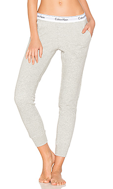 Modern Cotton Jogger en Gris Chiné