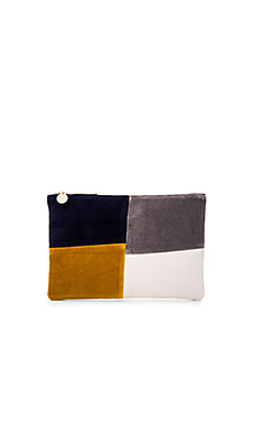 POCHETTE PLATE PATCHWORK GRID