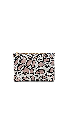 Hair On Flat Clutch – Snow Cat