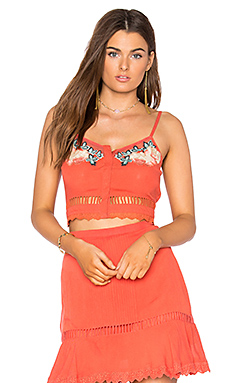 Midsummer Top en Corail