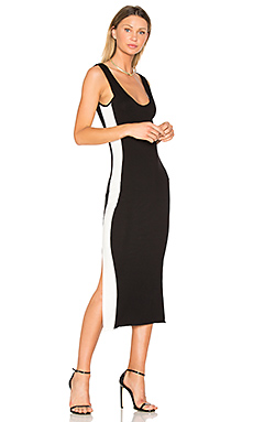 Tegan Track Dress en Noir & Blanc