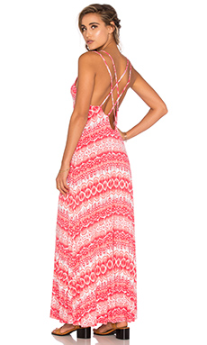 Lara Dress in Coral Dream