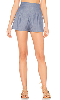Indra Short in Chambray