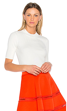 Ribbed Knit Top – Blanc Optique