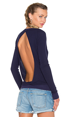 Cross Over Long Sleeve Thermal Top in Cove