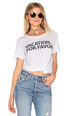 Vacation Por Favor Tee en Blanc